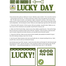 Printable -  How to Stage a Lucky Day