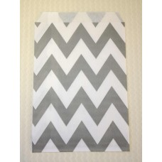 Paper Sacks - Gray Chevron