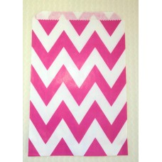 Paper Sacks - Hot Pink Chevron
