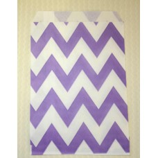 Paper Sacks - Lavender Chevron