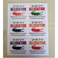 Classroom Gift - See you Later Alligator TAG ONLY